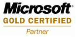 logo Microsoft gold